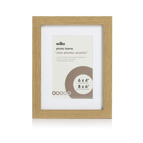 wilko photo frame light wood effect 8x6in deal at wilko offer calendar week