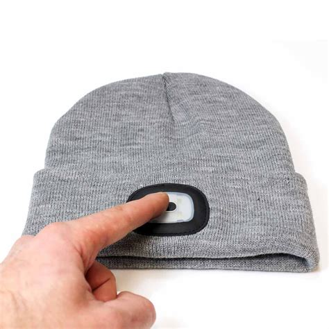 beanie cap with light 4 led flashlight keep warm light beanie hat cap for