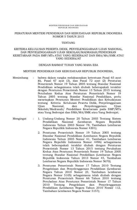 permendikbud no 5 tahun 2015 permendikbud no 5 tahun 2015 kriteria kelulusan peserta