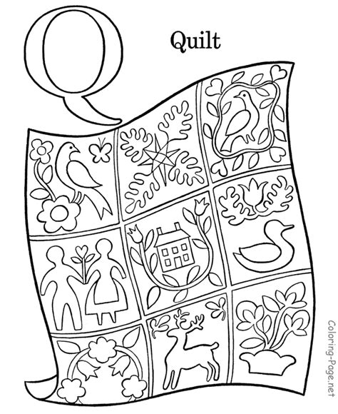 Bible Character With Letter Q Bible Alphabet Coloring Pages Az Coloring Pages