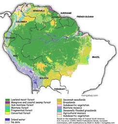 rainforest map south america map of the