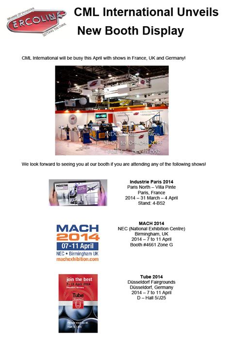 trade shows in connecticut 2014 ercolina unveils new trade show display in april cml