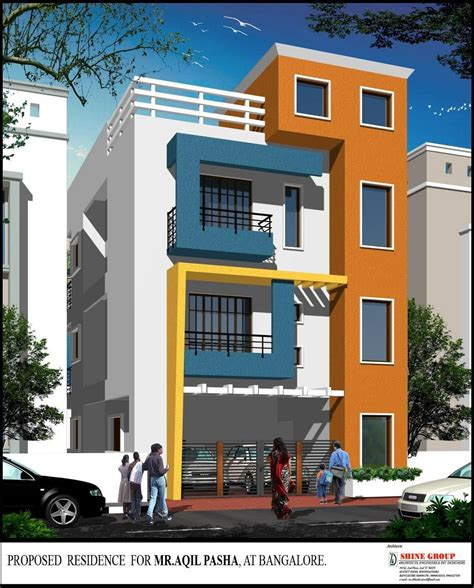 3 story building beautiful elevation for a three storey house gharexpert elevation in 2019 house design