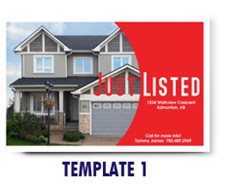 just listed card template just listed sold cards dms marketing