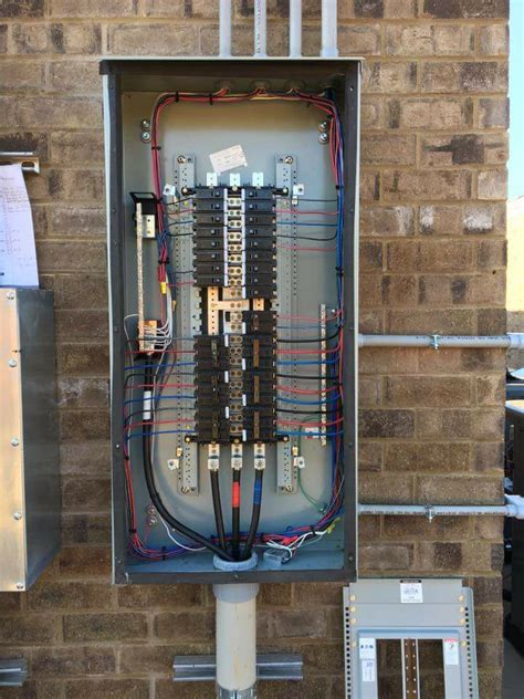 electrical distribution board attached electrical wiring