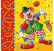 Serviettes 3 Plis Pliage 1/4 33 Cm X Clown