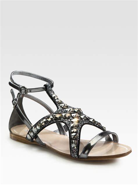 miu miu sandals miu miu starfish and glitter metallic leather