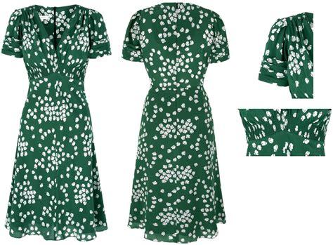 Dress Green Tea suzannah budding green silk tea dress