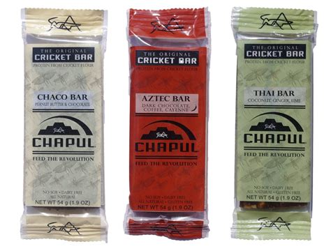 Top Selling Energy Bars by Chapul Cricket Flour Energy Bar Shark Tank Products