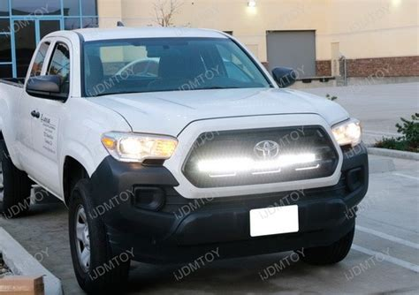 tacoma grill light bar 2016 up toyota tacoma grille 180w led light bar kit