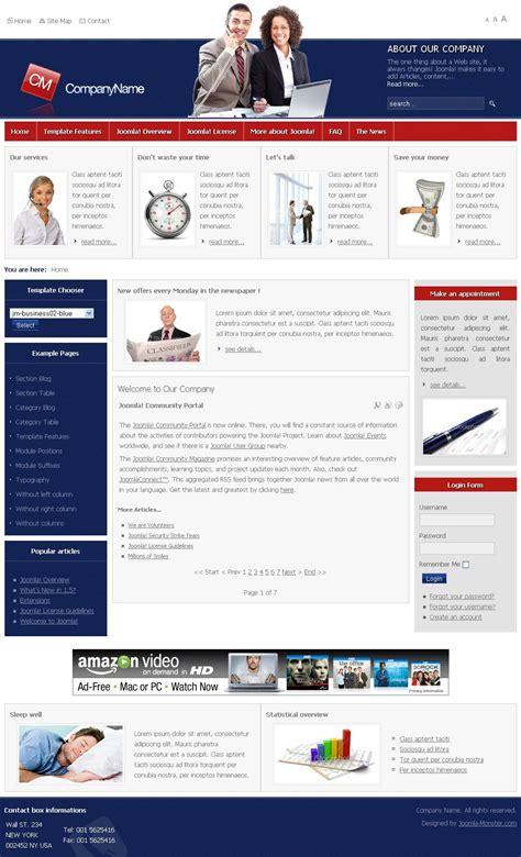 template joomla monster jm business02 premium joomla template by joomla monster
