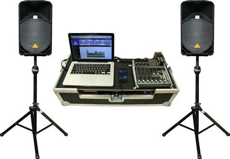 Mixer Audio Sound System 2000 watt pro stack sound system rental iowa audio equipment