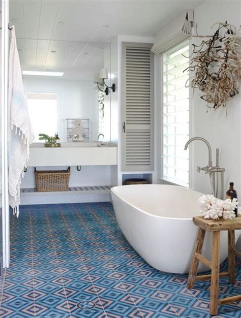 36 blue and white bathroom floor tile ideas and pictures 36 blue and white bathroom floor tile ideas and pictures