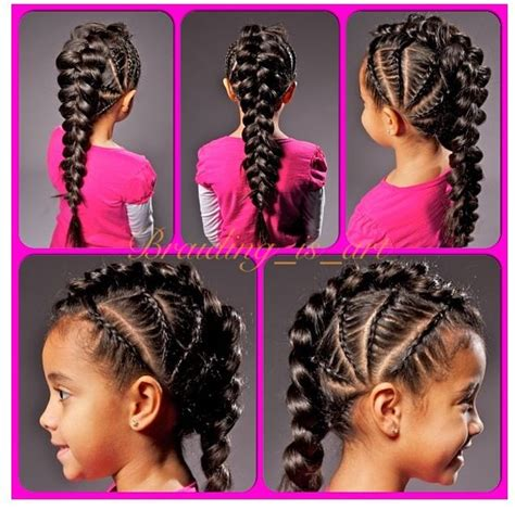 hairstyles with multiple braids multiple lace braids braided vertically on each side and