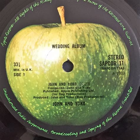 Wedding Album Lennon Vinyl by Nostalgipalatset Lennon Yoko Ono Wedding Album