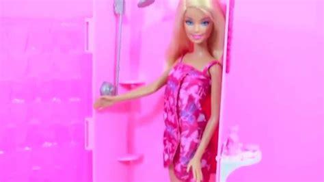 barbie glam bathroom barbie bathroom glam shower playset doll toy review