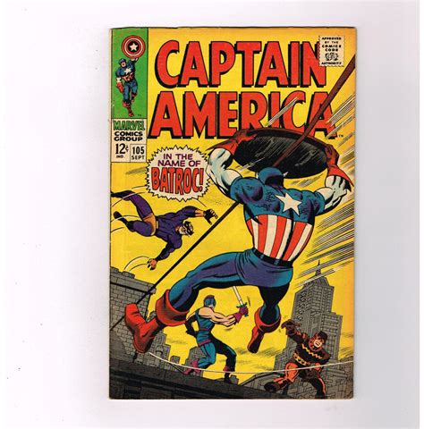 Find In Usa By Name Captain America V1 105 Grade 7 5 Silver Age Find Quot In The Name Of Batroc