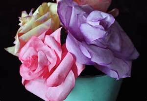 How To Make Paper Flowers Out Of Coffee Filters - diy coffee filter roses free template