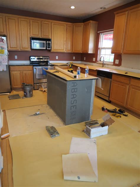 Kitchen Island Tile Tile Backsplash And Kitchen Island Before Tile