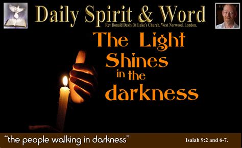 darkness daily spirit and word