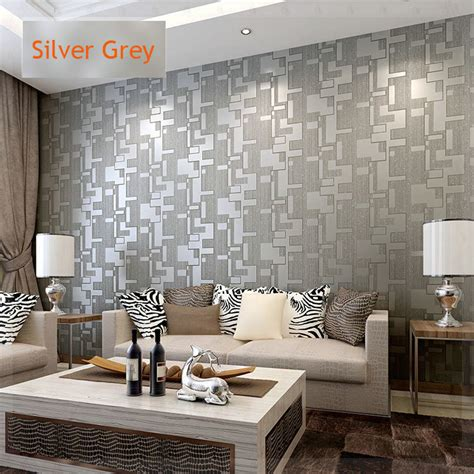 grey wallpaper living room uk microfiber nonwoven wallpaper roll 3d waterproof