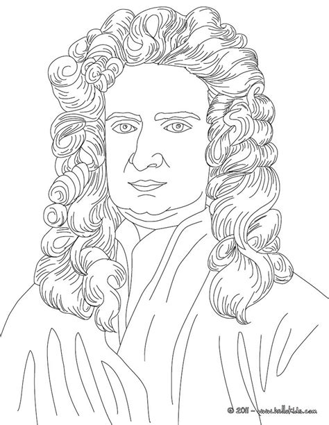 Isaac Newton Coloring Pages Hellokids Com Isaac Coloring Images