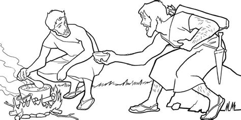 jacob and esau coloring pages images jacob esau and the stew parents activities and stew