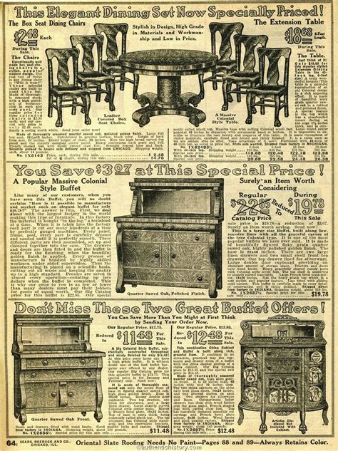 household furniture  sears household catalog dining