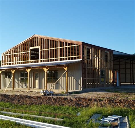cost of building home barndominium cost references in texas