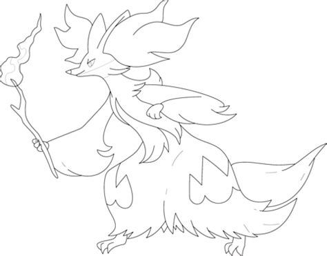 pokemon coloring pages delphox delphox coloring page free printable coloring pages