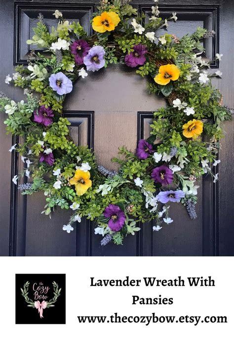 summer lavender front door wreath housewarming gift pick