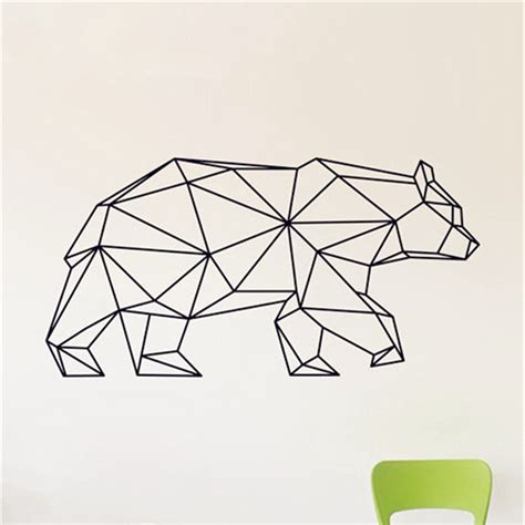 Home Garden Decor Store by Geometric Bear Wall Decal Bear Vinyl Wall Stickers