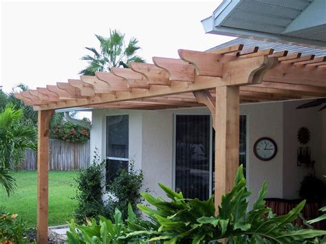 attached cedar big kahuna pergola kit customer pergola