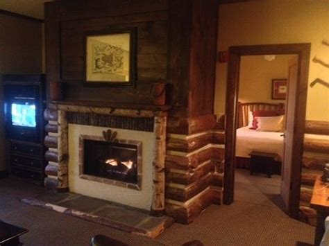 gatlinburg hotels with fireplaces fireplace with bedroom in background picture of the