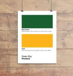 packer colors green bay packers pantone poster nfl cave packer by