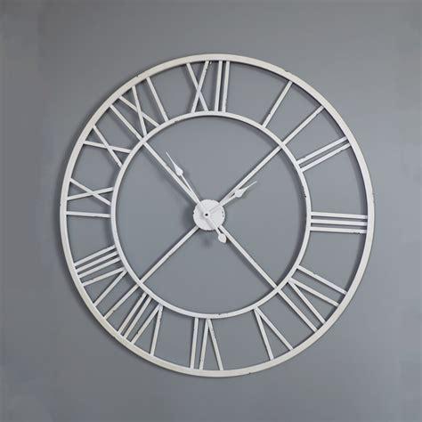 giant clocks large white skeleton wall clock melody maison 174