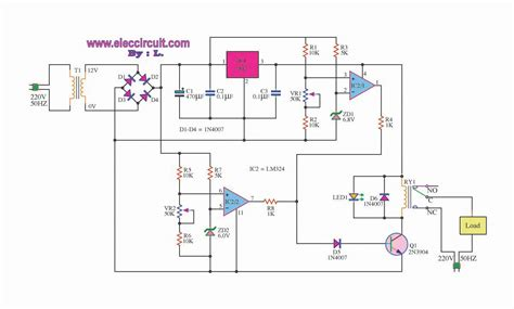 lm7812 protection diode voltage protection circuit eleccircuit