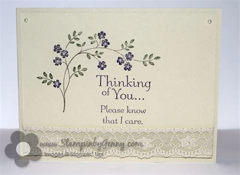 Thinking Of You Verses For Handmade Cards - stin up thoughts and prayers sympathy card stin
