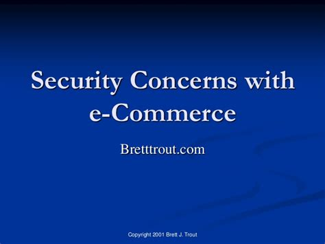 security concerns with e commerce
