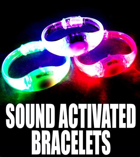 led light sound activated sound activated led light up bracelet