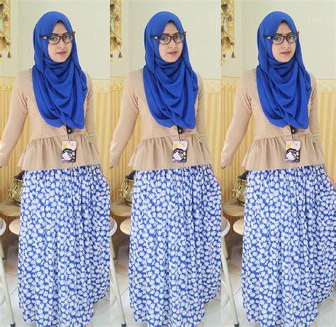 tutorial hijab pashmina natasha farani 2014 til feminin dengan rok skirt ala hijaber natasha farani