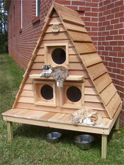 heated cat house plans woodwork outdoor cat house plans pdf plans