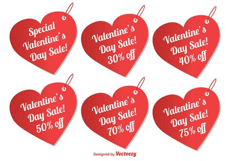 valentines sale s day sale tags free vector