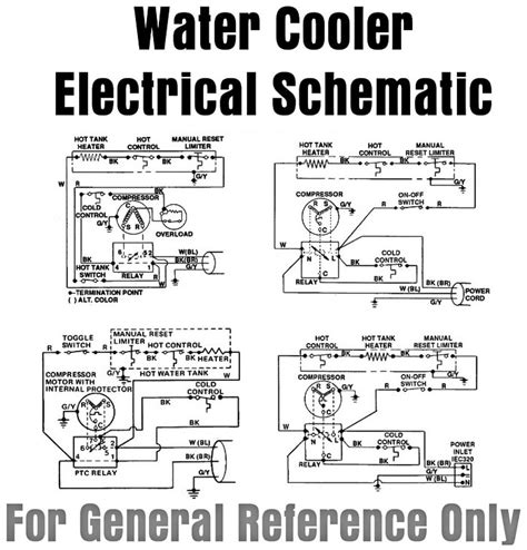 water dispenser schematic diagram bottled water cooler parts accessories for bottled water