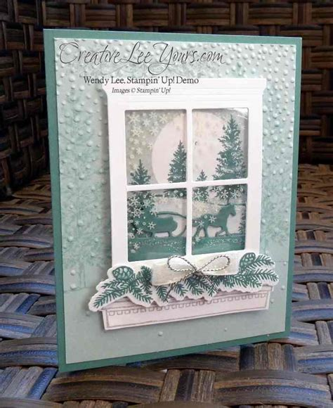 winter window card creativelee yours