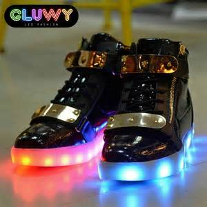light up shoes light up shoes led black and gold cool mania