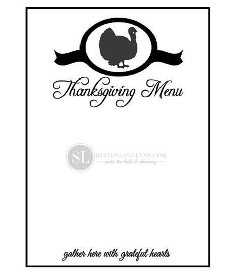 thanksgiving menu template printable 7 best images of printable blank thanksgiving menu