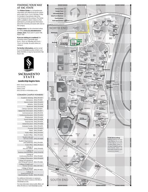 csus map sacramento state cus map my