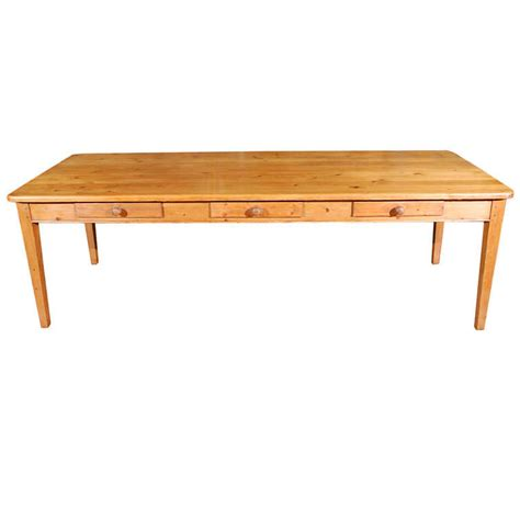 large table desk with drawers large antique pine table with drawers at 1stdibs
