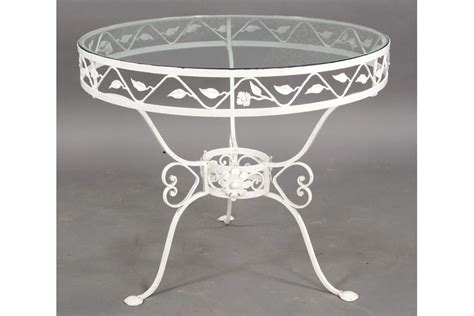 wrought iron glass top patio table vintage wrought iron patio table glass top